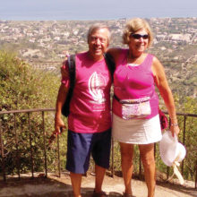 Rich and Barb Castro on the Island of Rhodes in June.