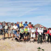 Sun Lakes hikers enjoying desert hiking.