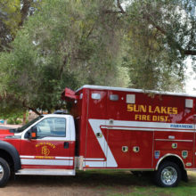 Sun Lakes Fire District places new ambulance in service.