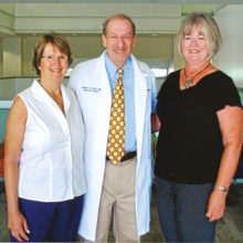 Sandy Eeds and Carol Ruff, co-chairs for this year's Cancer Research Benefit at Palo Verde, are pictured with Dr. Andrew Kraft, Director of the Tucson and Phoenix U of A Cancer Centers.