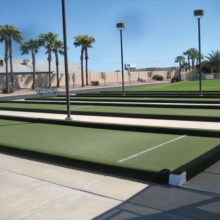 The bocce ball courts at Sisk Park will be buzzing with activity beginning in November when the Sisk Park Bocce Ball Club begins its 2016-17 competition season (photo by Gary Vacin).