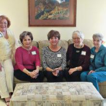 Crystal Award recipients Doti Breyan, Kathy Skrei, Charlene Petragallo, Bobby Reed and Eleanor Woodman.
