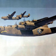 A B-24 top gun turret in a B-24 bomber like those shown above was home to Sun Lakes resident Sid Singer during 17 missions over Nazi Germany during WWII.