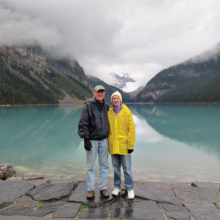 Al and Ginny Metz kept cool this summer by hiking in Canada!