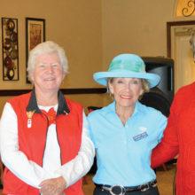 2016 OLNGA Executive Board (left to right) Treasurer Rachel Enloe, Secretary Julie Collier, Vice President Margaret Johns and President Barbara Stewart.