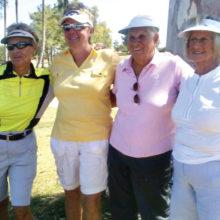 2016 Riggs Rd. summer league final winners (left-right) Cheryl Reed, Valerie Verbeek, Rita Raymond and Nancy Annen
