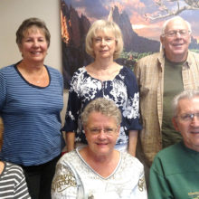Committee members (left to right) bottom: Pat Merkle, Cathy Lawson, Gary Tymn, (top)Joyce Weary, Diane Hitt and Gary Neffenger. Not present: firefighter Brandon Johnson and firefighter John Lawson, Diana Ellis, Sharon Feltz, Julie Ortbahn, Linda Caton and Kathy Wilson.