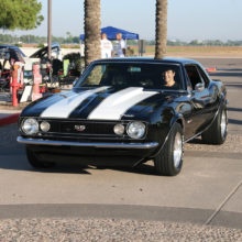 Pictured is our first place winner, George Schneider, and his 1967 Chevrolet Camaro.