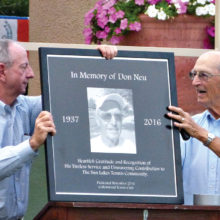 A memorial plaque was unveiled at Don Neu's memorial service.