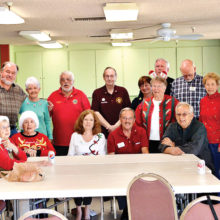 The Sun Lakes Breakfast Lions Club hosted their holiday get-together after a busy year of Lionism. Their next big fundraiser will be their annual Spaghetti Dinner on March 4 (photo by Debra Curry).