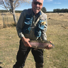 Ron Krump shows his catch from our trip to Silver Creek in November.