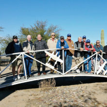 Sun Lakes Aero Club members participating in the Club's breakfast fly-in to Marana December 9 (left to right) Tom Howard, Red Boyles, Doug Whittaker, Paul Beeks, Ken Carpenter, Hank Beliema, Warren Wallace, J. R. Scheidereiter, Gary Vacin, Vince Sciberras and Doc Bricco.