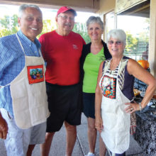 Event hosts Thom Tschetter, Norb and Vivian Guimond, and Sue Tschetter.