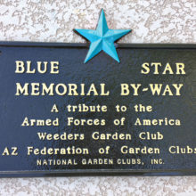 Blue Star Memorial plaque honoring our veterans.