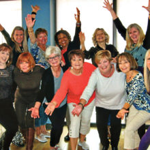 Salsa, Cha-Cha and Laughs class members out to lunch at the clubhouse