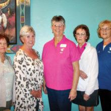 Rosalie Bowen, treasurer; Sheila Barton, secretary, Jackie Aagaard, 2nd vice president; Celeste Dorsey, 1st vice president and Donna Sullivan, president