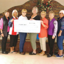 A record breaking check in the amount of $21,000 benefits the University of Arizona Cancer Center.