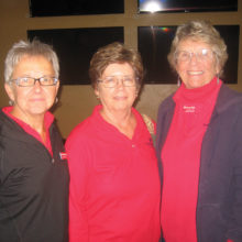 Pictured (left to right) are Ringer winners Eileen Moberg, Darla McCracken and Nancy Heberling.
