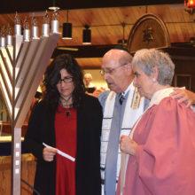 Dedication of new menorah in memory of Jack Dante.