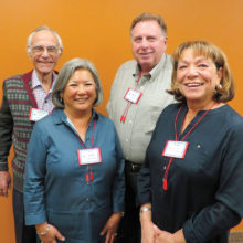 New Adventures in Learning 2017 officers include Lita Swanson, secretary (front left), Mary Kenny, vice president (front right), Wayne Wright, president (back left) and Bill Gates, treasurer (back right).