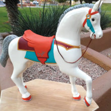 Carousel horse carved and painted by Sun Lakes Wood Carvers member Steve Cullen