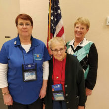 Left to Right: Janae Kemery, VFW Auxiliary President; Philomena Herring, Chairman, National Home; Betty Peer, Chairman, Veterans & Family Services