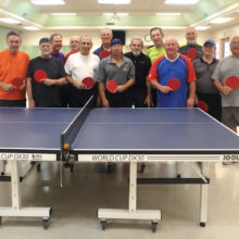 Sun Lakes Table Tennis Annual Club tournament participants: Steve Langer, Steve Weitz, Bill Aichele, Jim Spolar, Alan Behr, David Zapatka, David Novikoff, Dick Reid, Rich Nadler, Steve Chambers, Bill Gaston, Dave Fletcher, Doc Dockter and Gerry Vogelsang (not pictured).