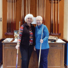The IronOaks Ladies Billiards Club welcomes Gayle Cullom and Cyndy Sivonen as new club members.