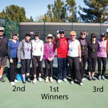 Winners of the pickleball skills tournament