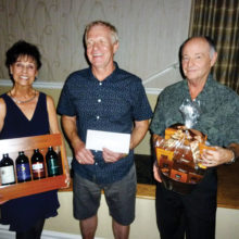 Door prize winners from the February dance are (from left to right) Sharon Lepdyke, Glen Ross and Ron Frye.