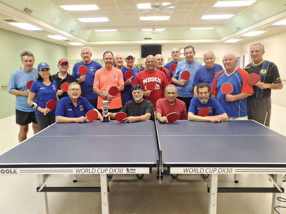 All table tennis paddles are facing red this year, since the Robson Cup match resulted in an exciting tie.