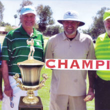 The Sun Lakes Rotary Annual Golf Event was held on March 26, 2017. The winning team members are J.R. Herrick, Frank Wiley, Raul Disarufino and John Kiehl.