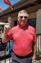 Ken Marshall, after making a hole-in-one at the Sun Lakes VFW Annual Golf Tournament