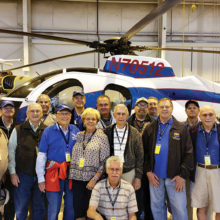 Sun Lakes Aero Club members and guests attending the field trip to MD Helicopters on March 23: Steve Perkins, Dick Simmons, Gary Vacin, Dorothy Vacin, JR Scheidereiter, Vincent Sciberras, Walt Gromada, Steve Horowitz, Wayne Zander, Jim Haytas, Gerald Hoak, Len Knecht, Bill Pennings, Ken Carpenter, John Philp, Gene Evans, Paul Beeks, Jack Leininger, Wallace Amundson and George Bliss