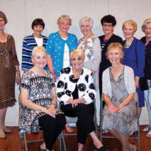 Silver Foxes - Front row: Be Be Brokop, Lorraine Twitchell and Sharon Sorensen; Back row: Veronica Beamer, Rae Jean Hennig, Merri Ellen Bergeth, Donna Dunlop, Suzy Hessman, Anne Fomo and Carole Hollar