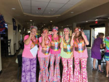Hippie Day with Audrey Rich, Chris Frazon, Barb Rogers, Jean Jones and Brenda Icenogle