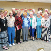 Cheers members gathered at the Cottonwood Country Club for their quarterly birthday party.