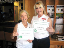 Judy Thompson and Lynnie Cheney, Most Improved Golfers