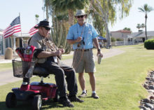 Rich Vale with one of the veterans