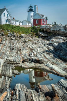 Pemaquid Point Light and Reflection, by Burt Williams