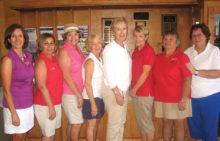 Ringer Winners (left to right): Denise Lott, Ann Gavin, Lorene Roberts, Judy Thompson, Susan Meer, Sandy Krediet, Linda Liberti and Judy Frink
