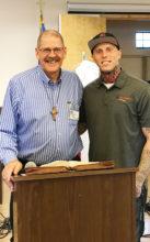 Tyler Bienvenn (right) with Pastor Gary Nibbelink