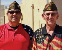 Post Commander Carlos Lozano with Dr. Julian Pickens