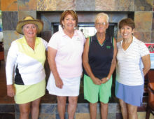 Left to right: Kathy Jones, Julie Curran, Penny Nowicki (all three from Palo Verde) and Ironwoods own Randi Rex