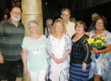 Members of the Executive Board of the Italian American Club, from left to right, are Bob Castaldi, Sergeant at Arms; Jacquie Ruffino, Vice-President; Donna Haugland, Secretary; Michael Smith, President; Carole Anne Smith, Treasurer; and Marie Szymanski, out-going President.