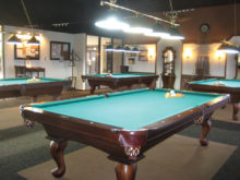 Competition begins November 1 in the Lucky Shot Pool Club's 2017-18 season on four 4-1/2 x 9-foot tournament-quality tables in the Cottonwood Billiards Room. Photo by Gary Vacin