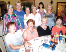 Lady Putters from the Thursday Flight: Seated (left to right) Rosalie Bowen, Nina Scinto, Faith Missildine and Eleanor Nicolsi; standing (left to right) Lucy Geller, Edite Evans, Marsha Guadioso, Barb Bogar, Penny Angelina and Teddy Cole