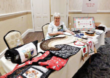 The beautiful display of items made by the Sew-N-Sews