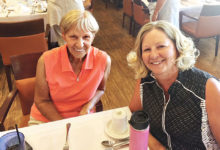 Two happy diners at an ILGA luncheon