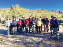 SLHC hikers at Lost Dog Wash and Ringtail Loop